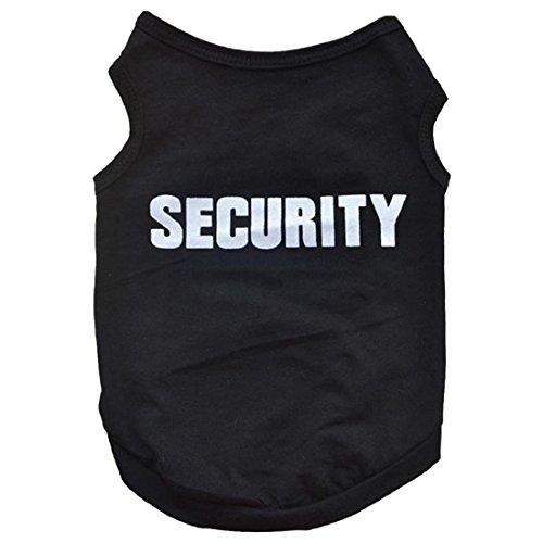 REFURBISHHOUSE Ropa De Invierno para Mascotas Camiseta Chaleco De Gato Perro Perrito Abrigo Vestido Suéter Atuendo Security, Negro L