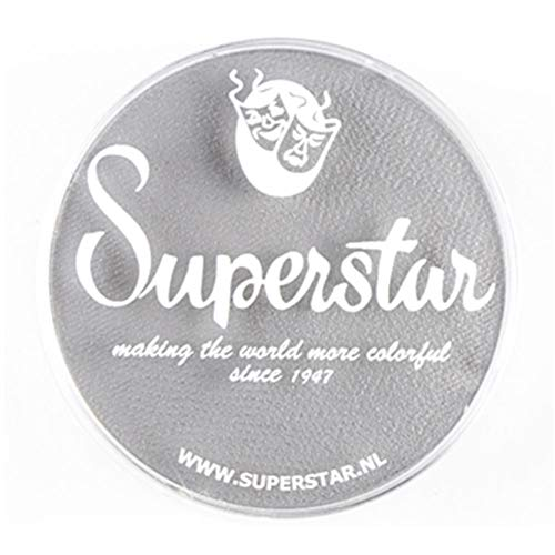 Superstar Face Paint - Light Grey 071, Hypoallergenic, Gluten Free & Cruelty Free - Child Friendly, Great for Fairs, Carnivals, Party & Halloween Painting (45 gm)