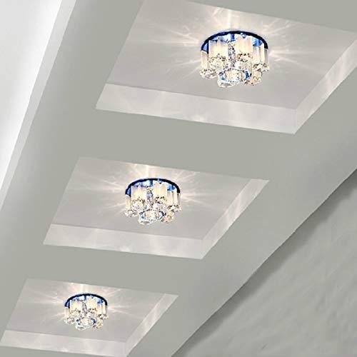 Led/Spotlight / Ceiling Lamp/Square / Living Room/Ceiling / Aisle Lamp/Corridor Light/Crystal Down Light,Dark Brown Crystal Led5W