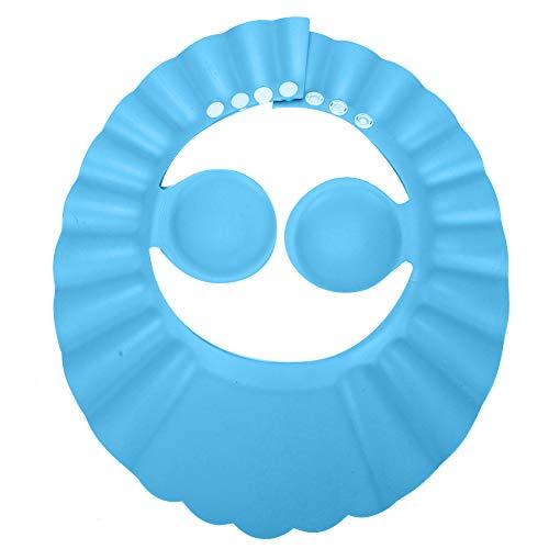Babyshampoo douche badmuts, gehoorbeschermingshoed voor kinderen, zachte verstelbare vizierhoed voor peuters babybadmuts siliconen haar zonbescherming(blauw)