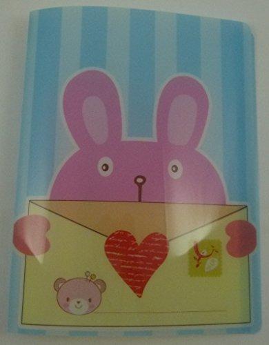 Enveloppe animaux 20 pochettes A4 légère dossier du fichier Affichage du livre mignon (Bleu)