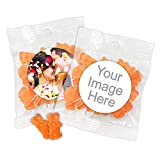 Personalized Gummy Bear Favors - Champagne Flavor, Personalized Champagne Gummy Bears Packets (Set of 24)