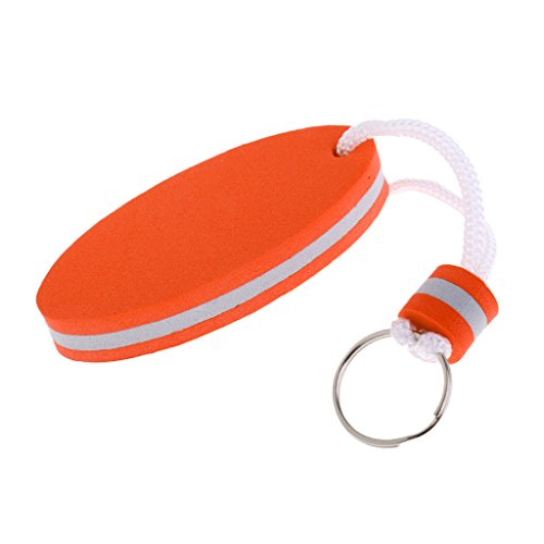 MagiDeal Schlüsselanhänger Kajak Kanu Segeln Rafting Sport Schwimmender Schlüsselring, Taschenanhänger Bootsport Floating Keychain - Orange