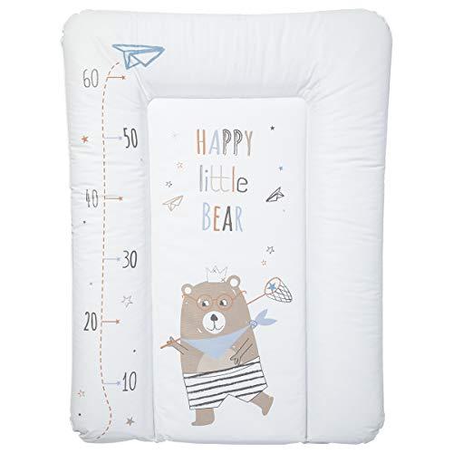 Babycalin BBC510905 Wesentliche Wickelauflage, 50cm x 70cm, Glücklicher Kleiner Bär Toise, mehrfarbig, 1 Stück