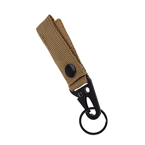 MagiDeal Nylon Molle Tactique Accrocher Le Mousqueton De Ceinture Touche Crochet Sangle Boucle Kaki