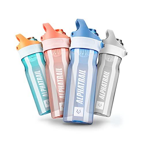 Alphatrail Botella Agua Tritan Jimmy 500ml Azul I 100% Prueba de Fugas I sin BPA & Ecológicamente I Seguro Lavavajillas I Abertura para Beber Funcional para una óptima hidratación Durante el Deporte