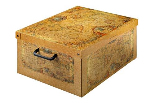 Kanguru la coperta con le maniche BAULOTTO Marco Polo Aufbewahrungsbox, Paperboard, Mehrfarbig, 40 x 50 x 25 cm