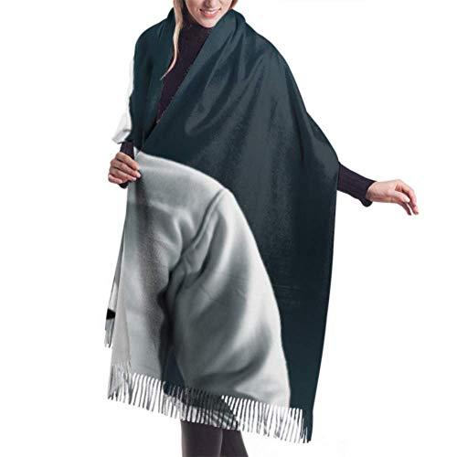 """女の子のための27""""x77""""スカーフセット女性のためのレイピアカラフルなスカーフを備えたフェンシングマスクフェンサーフリンジスカーフスタイリッシュな大きな暖かい毛布"""