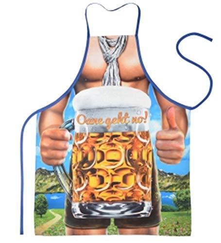 Geile-Fun-T-Shirts Bayern Grillschürze Oane geht no Bier Küchenschürze Schürze geil Bedruckt Geschenk Set mit Urkunde