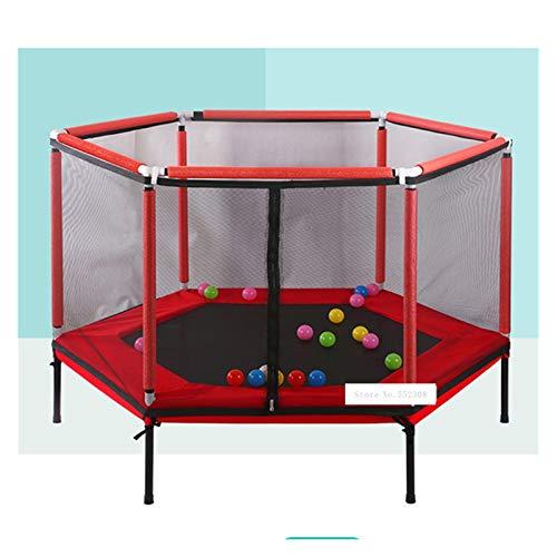 LXF JIAJU Cama De Rebote De Salto Doméstico Protección De La Cama Equipada para Niños Trampolín para Niños Cama Bouncing Juegos Interactivos Fitness (Color : Red)