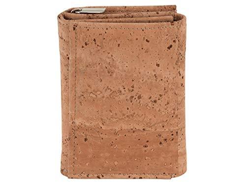 SIMARU Monedero para mujer de corcho, una alternativa de piel vegana y sostenible – Monedero de corcho con muchos compartimentos, pero muy ligero