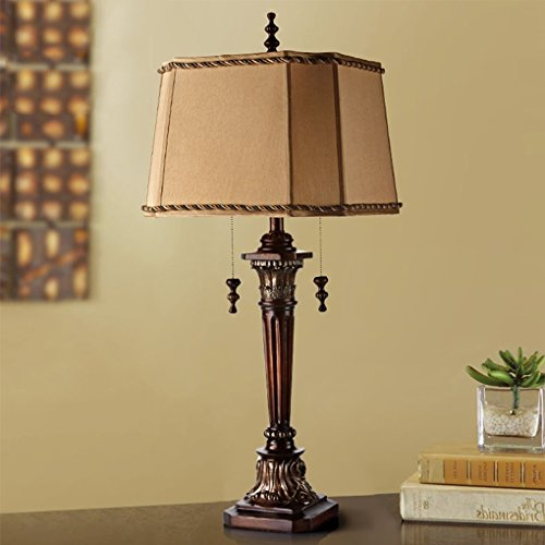 Bonne chose lampe de table Lampe de bureau de luxe de luxe américaine de luxe Lampe de bureau rétro Décoration de décoration Villa Hôtel Salon Lampe de table