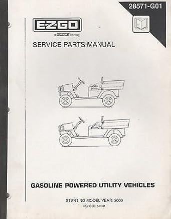 2000 E-Z-GO GASOLINE POWERED UTILITY VEHICLE SERVICE PART