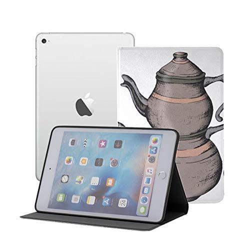 CaseIpadMiniforKids Tea Cup and Black Tea FunIpadMiniCase Ipad Mini 1/2/3 Auto Sleep/Wake with Multi-Angle Viewing for Ipad Mini 3/ Mini 2/ Mini 1