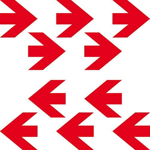 GreenIT 10 Aufkleber 5cm x 5cm rot Pfeil Tattoo Decal Richtung Zeichen Symbol 4061963031858