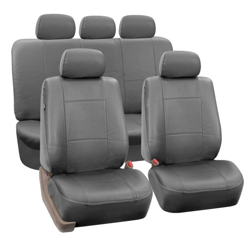 car seat cover leather grey - 5