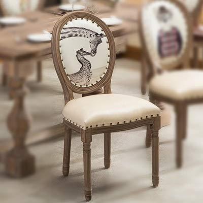 LKAIBIN Louis Retro sillas de Comedor Moderna de Madera nórdica Europea de Retorno Sencilla Moda for el hogar manicura (Color : G17)