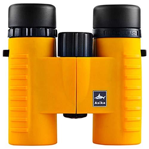 PIGE Jumelles HD Le télescope Adulte pour Enfants Low Light Night Vision Concert d'observation des Oiseaux Peut Prendre Le téléphone (Couleur : 8x32Orange)