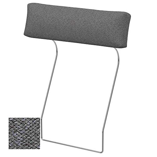 Soferia Funda de Repuesto para IKEA VIMLE Funda reposacabezas, Tela Nordic Grey, Gris