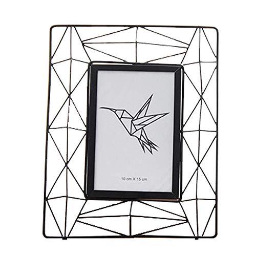Wankd metalen fotolijst staand beeld decor geometrisch zwart draad Prisma fotolijst, metaal, zwart