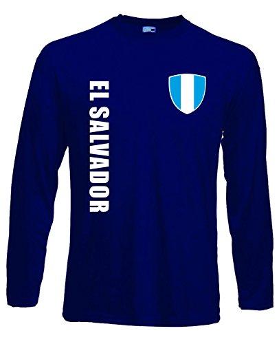 aprom EL Salvador Langarm T-Shirt Trikot LS-Spa Navy Longsleeve (M)