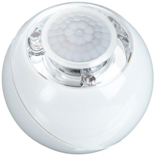 GEV 000728 LED lichtbal LLL728 120 graden bewegingsmelder op batterijen, inclusief magneetbevestiging voor binnen, wit