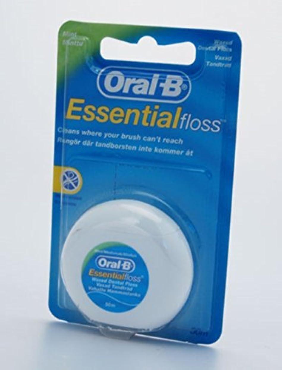 含意手入れ夏3X 50M ORAL-B ESSENTIAL DENTAL FLOSS WAXED - MINT WAXED by Oral-B [並行輸入品]