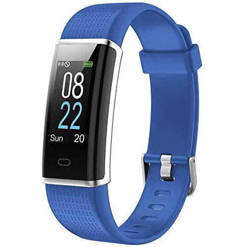 Willful Pulsera Actividad Impermeable IP68 con 14 Modos de Deporte,Pulsera Inteligente con Pulsómetro, Monitor de Calorías, Sueño,Podómetro,Pulsera Deporte para Android y iOS Teléfono móvil (Azul)