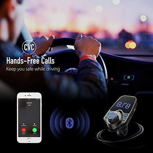 Yagii Drahtloser FM-Transmitter Bluetooth Freisprecheinrichtung Auto Kit MP3 Player Dual USB Ladegerät mit Memory-Funktion unterstützt Musik USB Flash Drive Play Schwarz