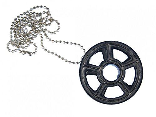 Miniblings Farbband Schreibmaschine Kette 80cm Upcycling Vintage Band Rad - Handmade Modeschmuck - Kugelkette versilbert