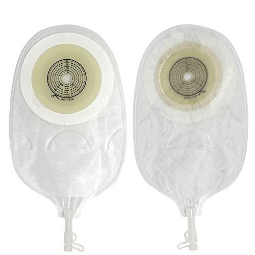 Anti-BackFlow Design Bolsa de urostomía 15-48mm Capas de doble capa Bolsa de colostomía de orina de adhesivo para la cistostomía Sin fugas Stoma Bolso incontinencia Productos Productos Bolsas de drena
