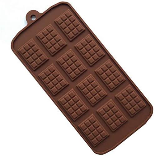 chushi Molde De Hornear Molde De Silicona 12 Células Molde De Chocolate Fondant Patisserie Candy Bar Molde Molde Cocina Accesorios para Hornear Zzib (Color : 1pcs, Size : Strip)