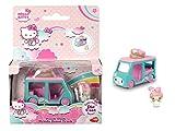 Dickie Toys Hello Kitty Dazzle Dash Melody Donut-Coche de Juguete extraíble, Juego Personaje, Longitud del vehículo: 6 cm, tamaño de la Figura: 2,5 cm, a Partir de 3 años (253241002)