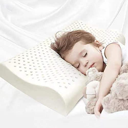 Tailove Almohadas para niños, Almohadas para niños pequeños con Espuma viscoelástica Almohadas hipoalergénicas para la Salud, Planas para Protector de Cuello, Funda Suave, Saludable y Transpirable
