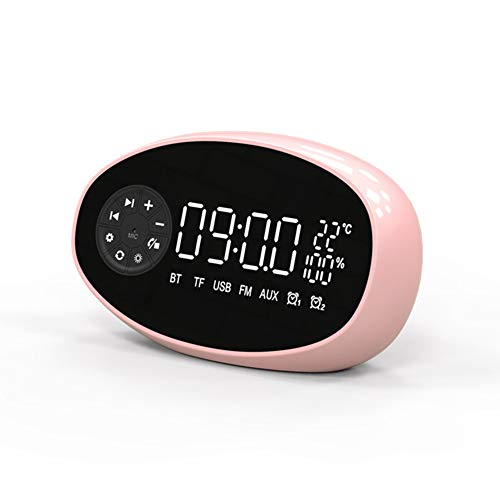 MJBOY multifunctionele wekker Bluetooth speaker met alarm elektronische radiografische temperatuur klok papier U disco TF draadloze subwoofer