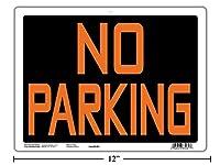 "9x12インチ ポリ塩化ビニル製看板""No Parking"""