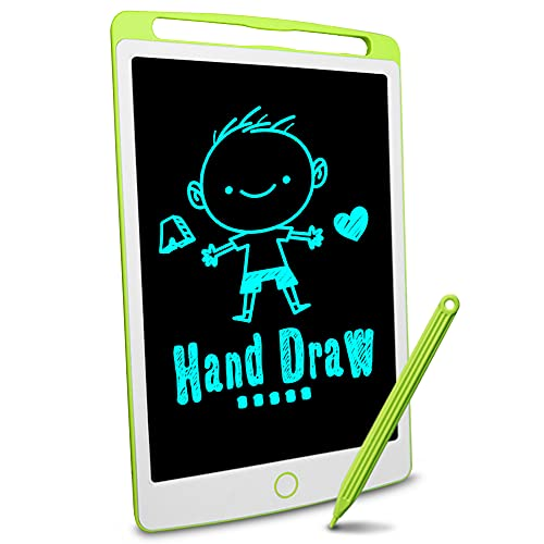 Big side Richgv LCD Writing Tablet, 10 Inch bright colorful Electronic Drawing Board Graphic Tablets with Memory Lock, Handwriting Paperless Notepad Suitable for Home Job School Office Blackboard