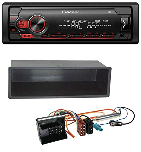 caraudio24 Pioneer MVH-S220DAB DAB 1DIN MP3 AUX USB Autoradio für Peugeot 207 307 Expert Partner