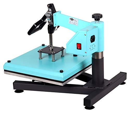 RICOO Transferpresse T538B-TB [38x38cm] T-Shirtpresse Heat Press Thermopresse Textilpresse für Transfer-Folie Transfer-Papier || Türkisblau || - 5