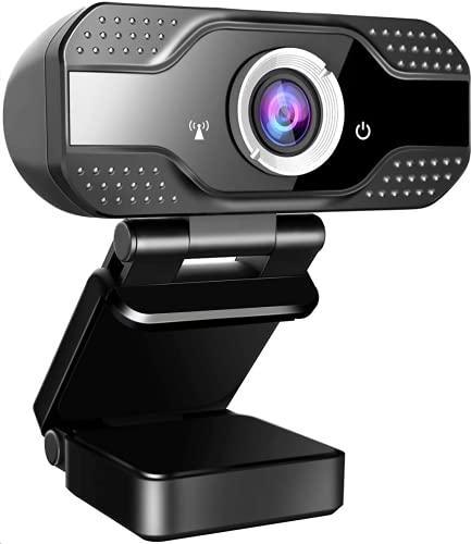 jojobnj Webcam mit Mikrofon, FHD 1080P Webcam mit Abdeckung, USB2.0 Plug & Play, Laptop PC Kamera für Video-Streaming, Konferenz, Spiele, Kompatibel mit Windows/Android