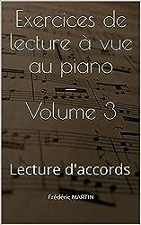 Exercices de lecture à vue au piano — Volume 3: Lecture d\'accords