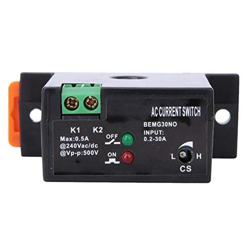 Interruptor de detección de corriente, interruptor de detección de corriente CA ajustable a prueba de fuego Interruptor de detección autoalimentado de 0.2~30A(Normally Closed)