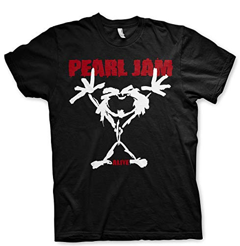 Pearl Jam Ten Logo Eddie Vedder Rock Oficial Camiseta para Hombre (Large)