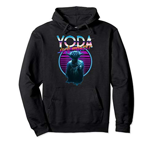 Official Star Wars Yoda 80s Theme Hoodie for Adults, 5 Colors, S to 2XL