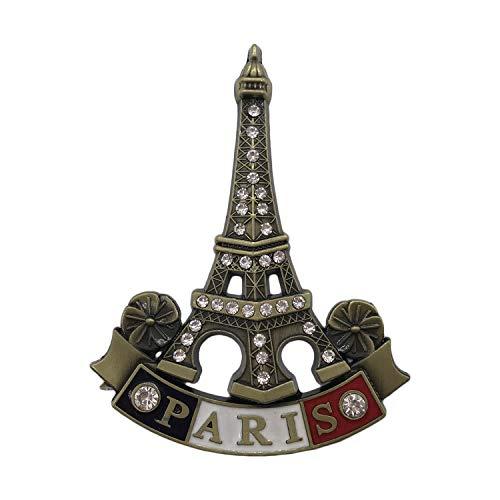 3D Paris France Diamond Tower Metal Refrigerator Magnet Travel Souvenirs Fridge Magnet Home and Kitchen Decoration Magnetic Sticker Collection