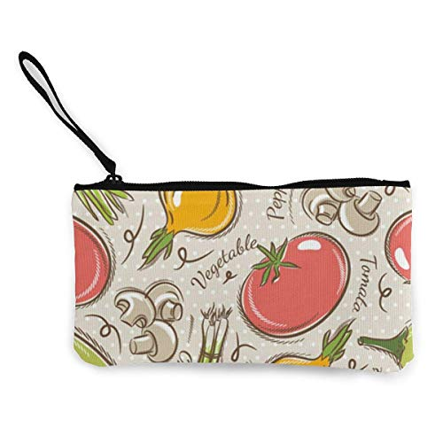 Porte-Monnaie en Toile de Fruits de légumes, Pochette de Maquillage de Voyage, Sac de Caisse, étui à Crayons, Pochette Portefeuille