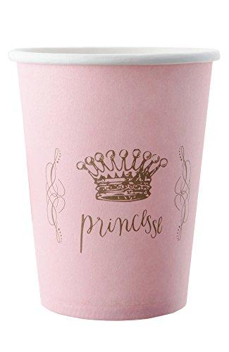 Princesse Party Becher/Pappbecher rosa .Kindergeburtstag Prinzessinen Party
