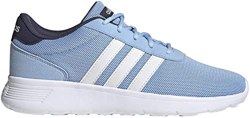 adidas W Lite Racer Glow Blue/White/Trace Blue Running Shoes 10