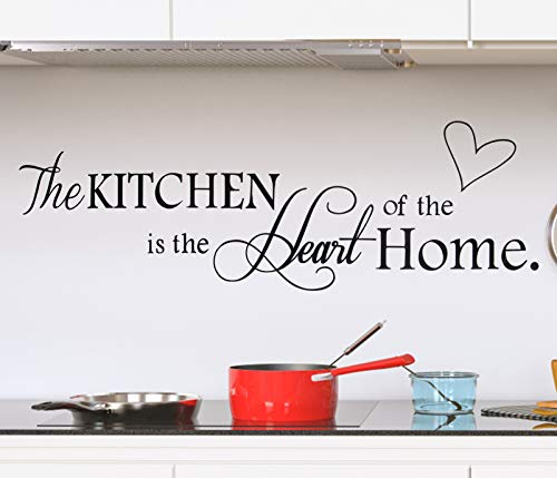Unves - Pegatinas de pared para cocina, decoración de cocina, decoración de arte de cocina, vinilo para el hogar ('La cocina')