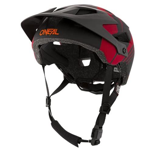 O'NEAL | Casco da Mountainbike | MTB | Aperture di ventilazione per il raffreddamento, cuscinetti lavabili, standard di sicurezza EN1078 | Defender Nova | Adulto | Rosso Arancione | Taglia XS M